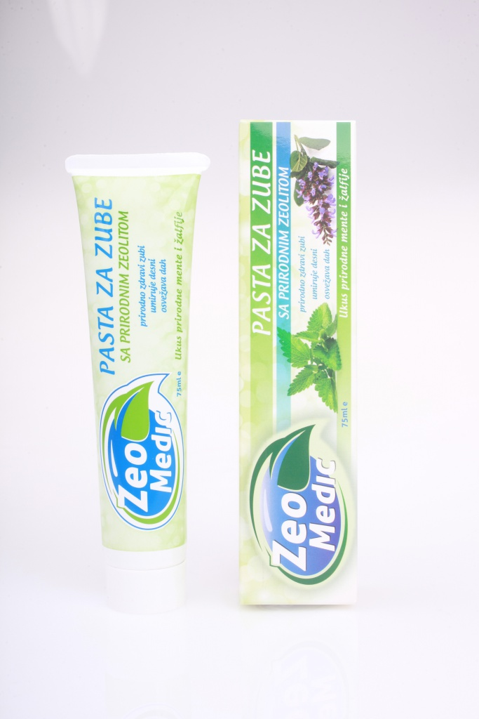 Picture of packaging toothpaste with zeolite 75ml