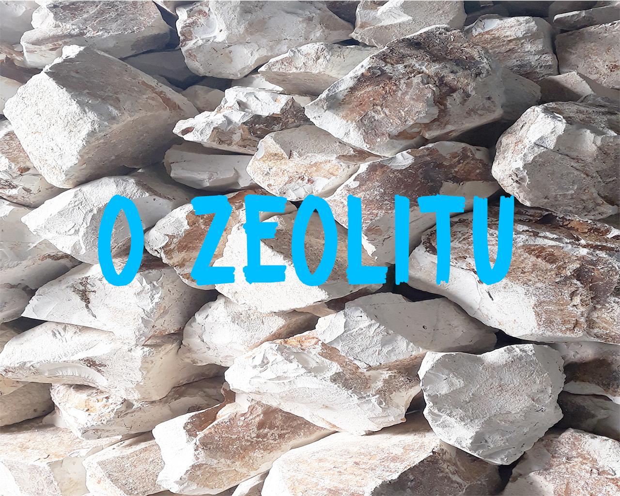 """Kamenje prirodnog zeolita sa natpisom """" O Zeolitu"""""""