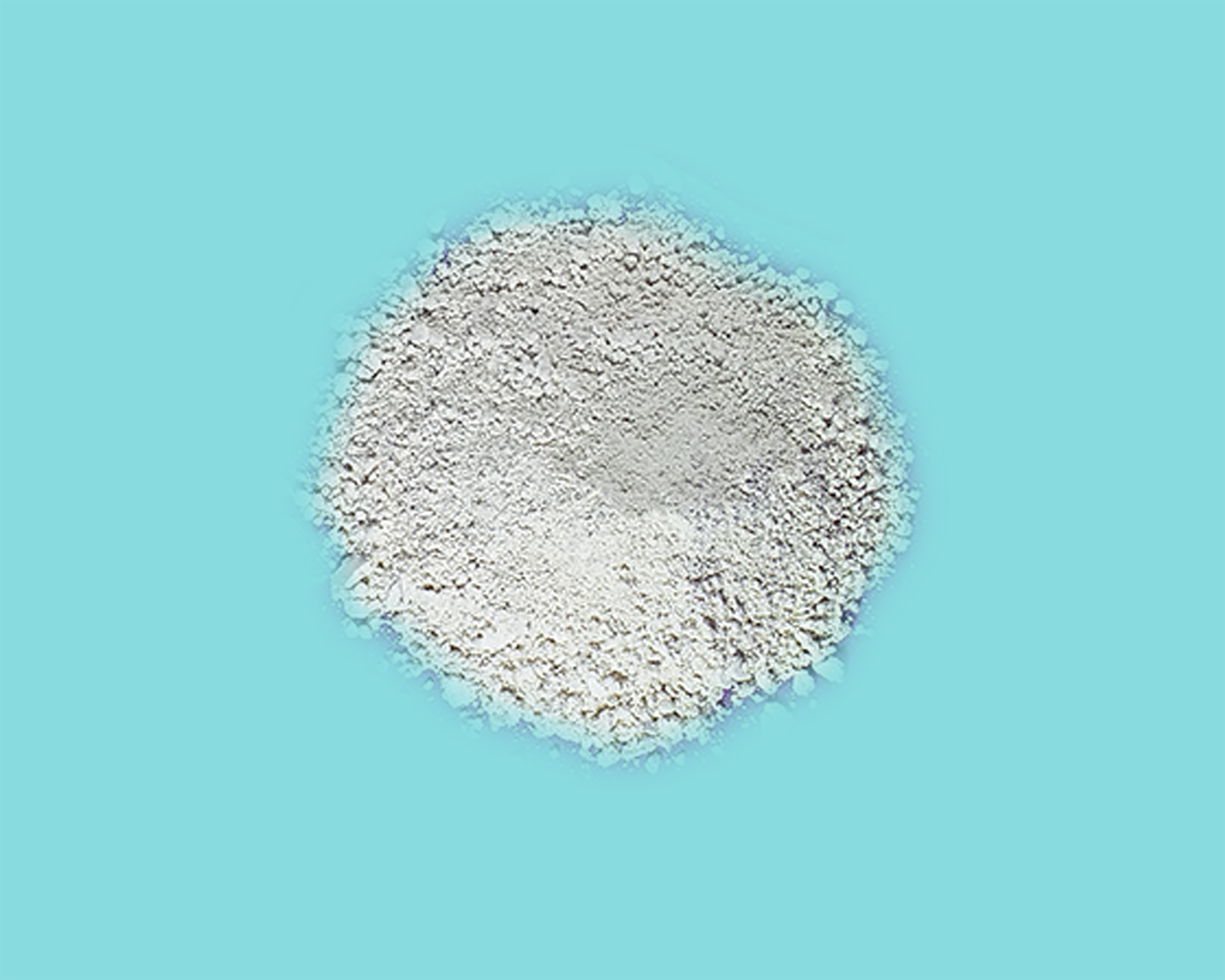 Picture of natural zeolite in powder